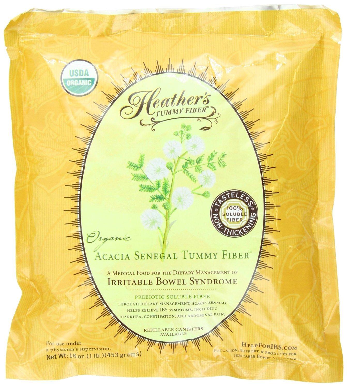 Heather's Tummy Fiber POUCH Organic Acacia Senegal (16 oz) for IBS