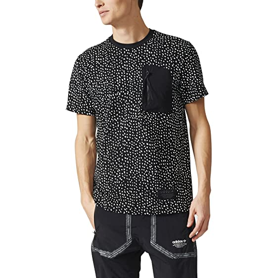 adidas Originals Men's NMD Allover Print Tee (XL, Black/White)