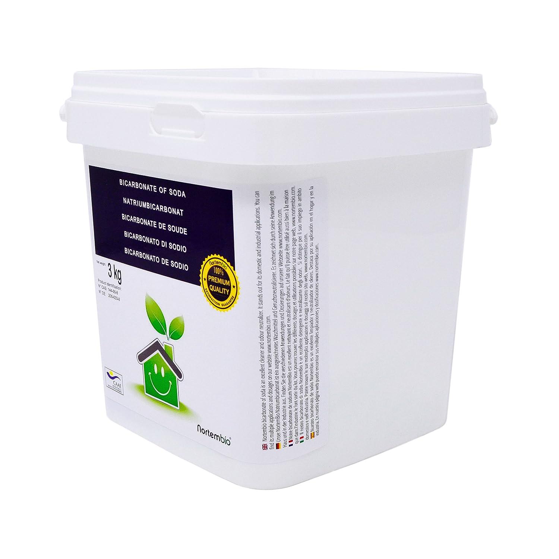NortemBio Bicarbonato de Sodio 3 Kg, Insumo Ecológico de Origen Natural, Libre de Aluminio, Producto CE.: Amazon.es: Hogar