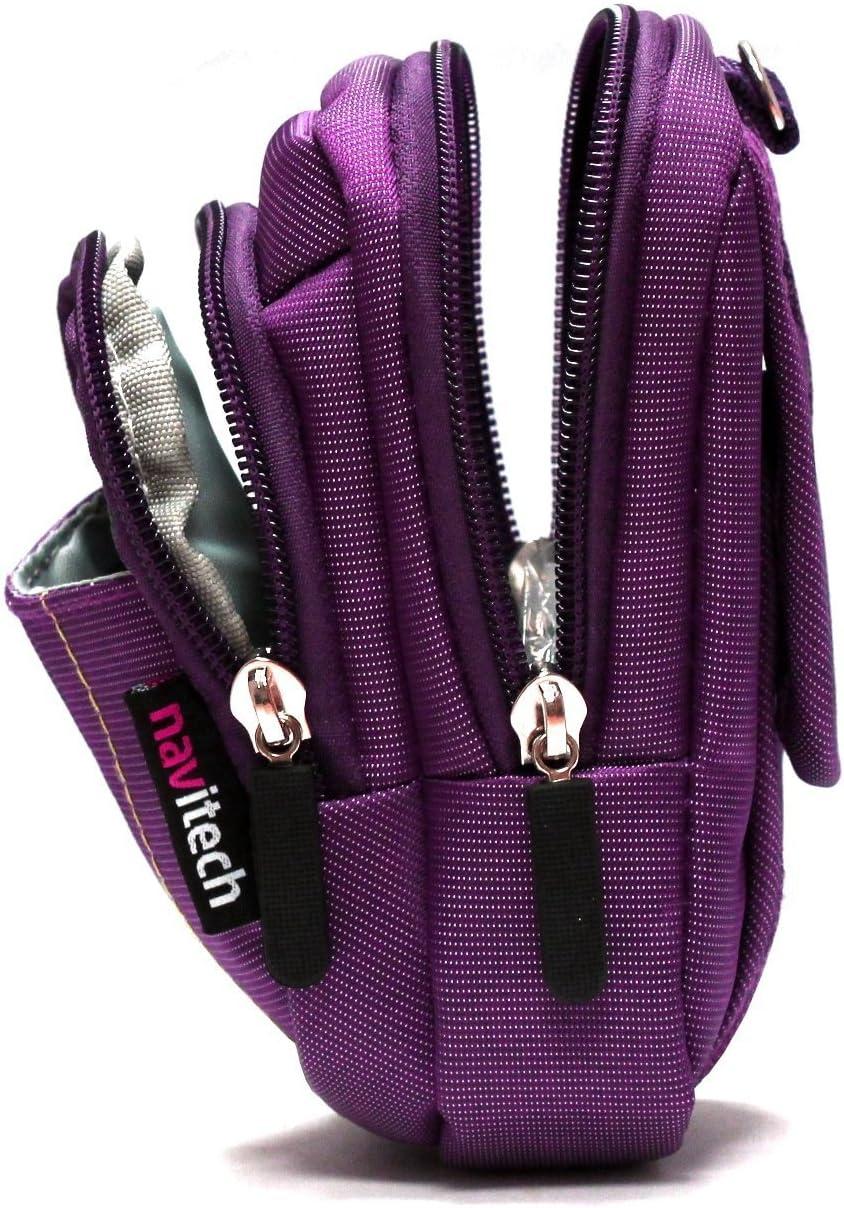 Navitech Purple Digital Camera Case Bag Compatible with The Canon IXUS 160