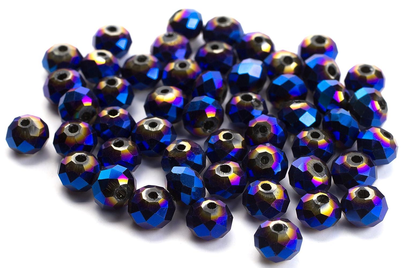 Rondelle 玉 6 mm 300/Pkg-メタリック ブルー   B00FL69ZVS
