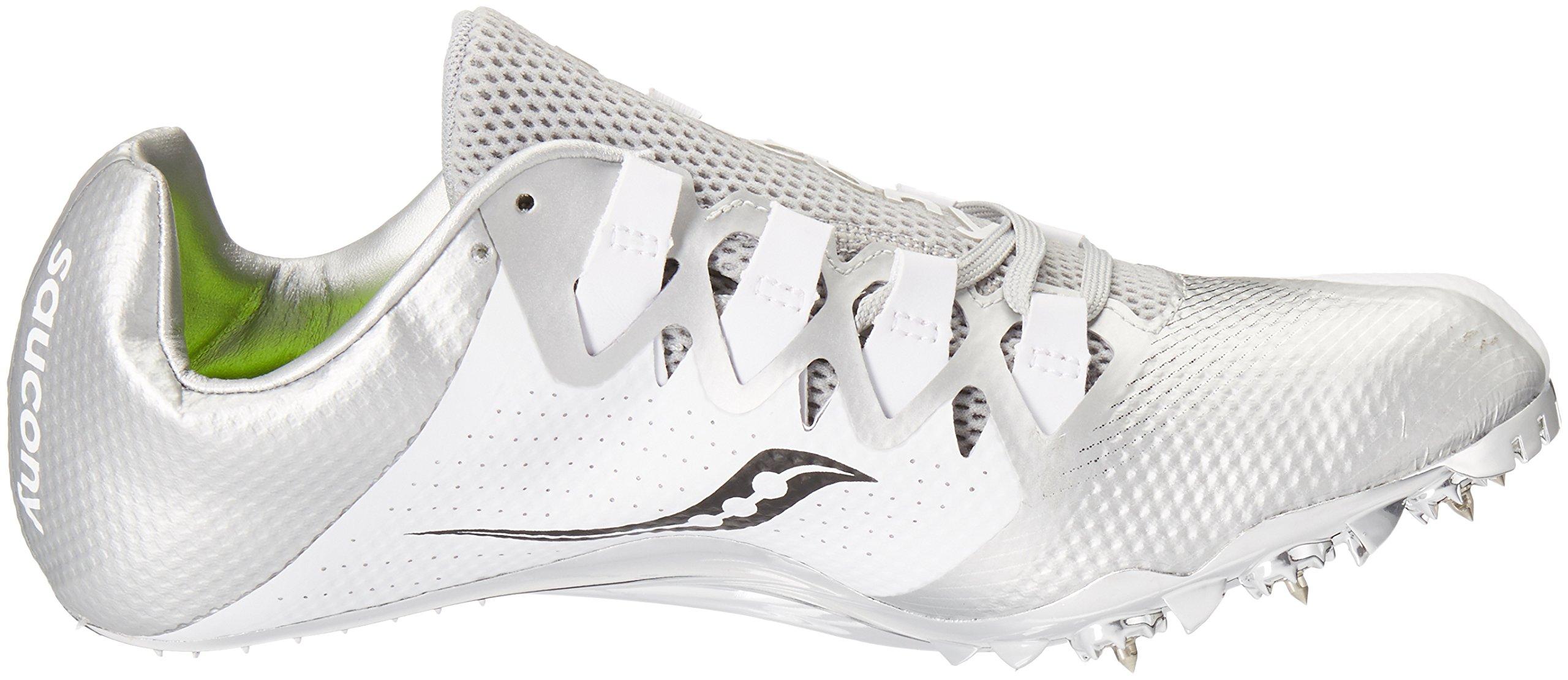 Saucony Women's Showdown 4 Track Shoe White/Silver 10 M US by Saucony (Image #7)