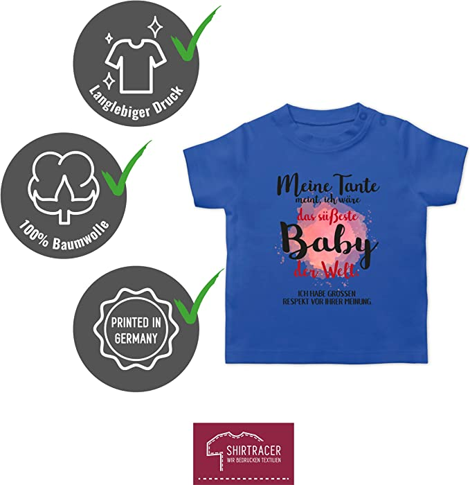 Shirtracer Ich Habe den besten Onkel der Welt Baby T-Shirt Kurzarm Spr/üche Baby