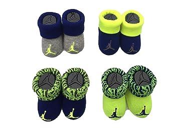 c9c5a43cf Jordan Air Jordan Newborn Infant Baby Booties Gift Set 4 Pack (Volt(IJ0104-