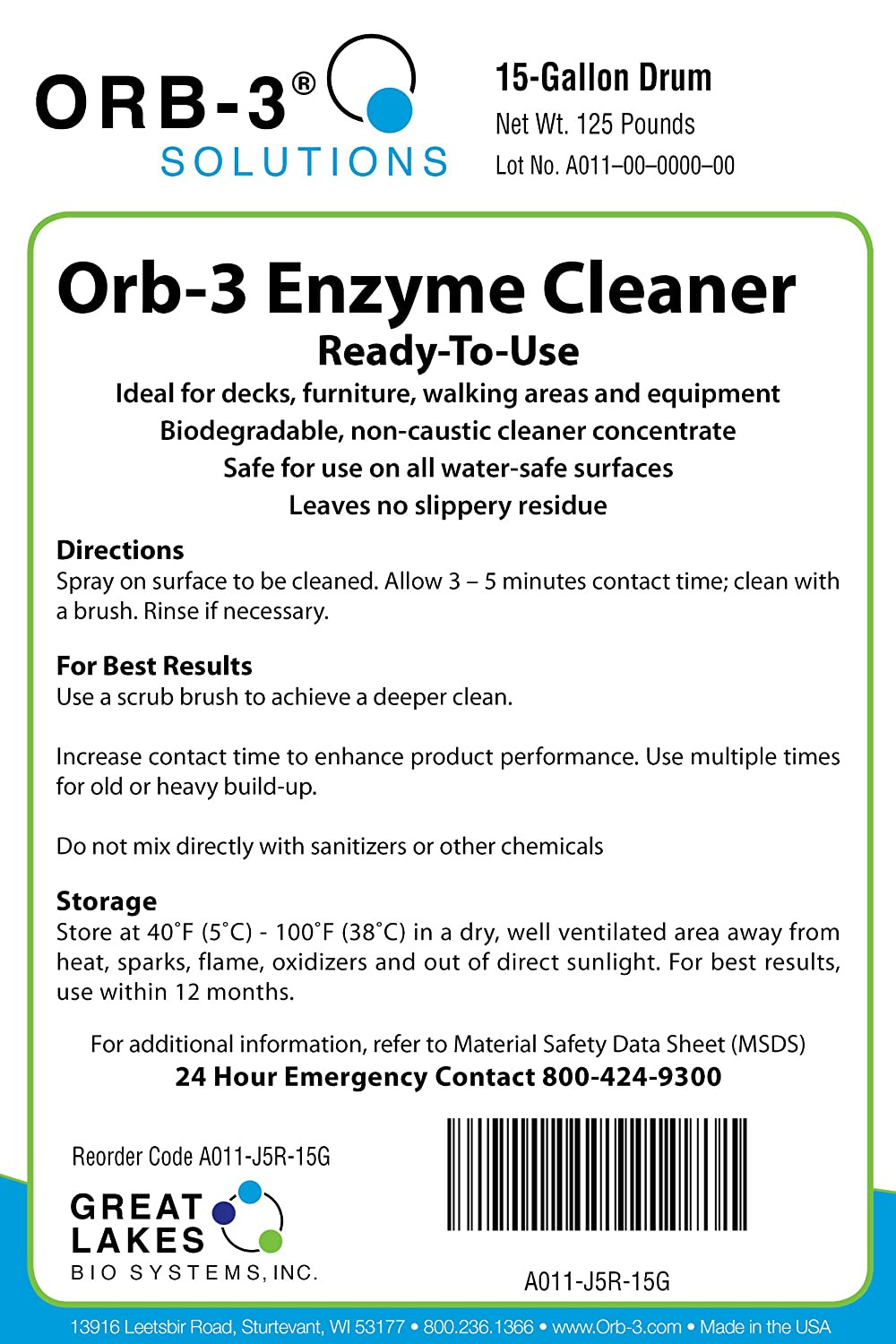 Amazon.com: orb-3 Ready-to-use enzima Cleaner Spray Botella ...