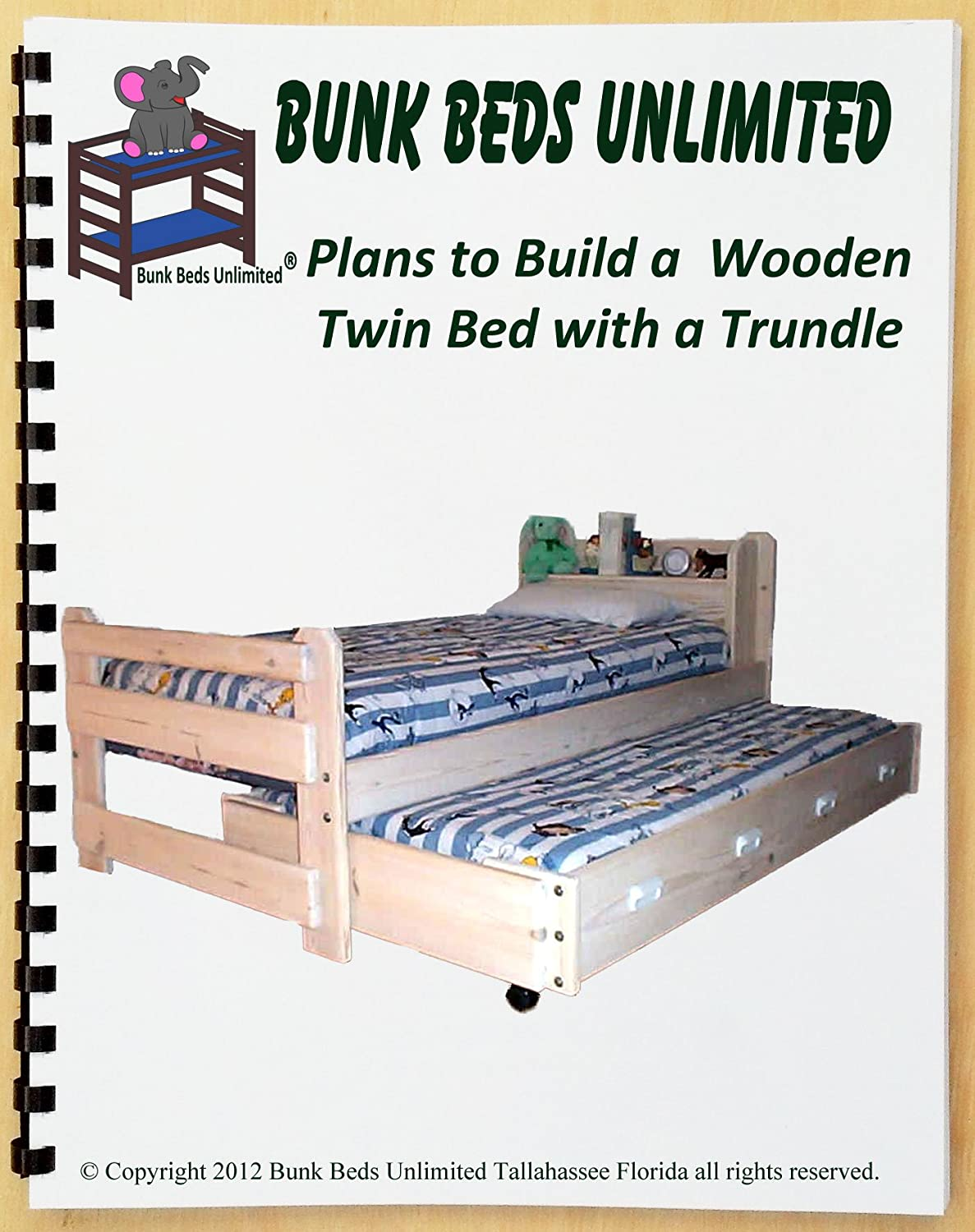 Bunk Beds Unlimited Trundle Bed Diy Woodworking Plan To Build Your Own Frontiersman Model Twin Size