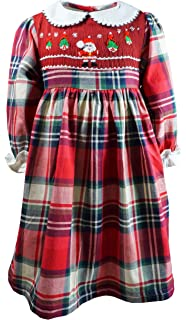 b8ece08446bcf Angeline Baby Little Girls Fall Winter Thanksgiving & Christmas Holiday  Classic Smocked Dress