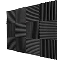 Nrpfell 12 Pack- Acoustic Panels Foam Engineering Sponge Wedges Soundproofing Panels 1inch x 12 inch x 12inch