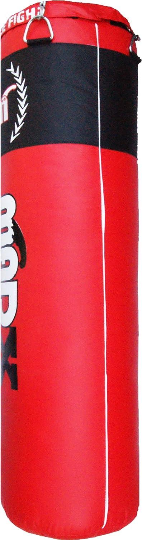MADX Juego de boxeo profesional de 10 piezas con saco de boxeo relleno y pesado color negro de 1,2 o 1,5 m tambi/én para artes marciales mixtas soportes de pared y guantes