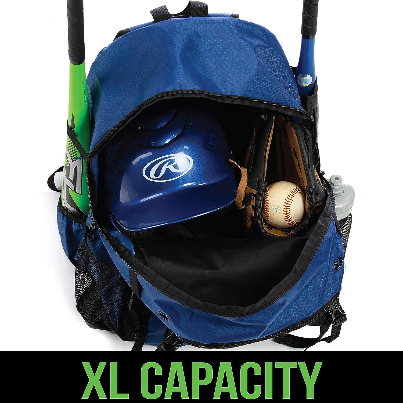 Azul marino Mochila juvenil para equipo de b/éisbol Basics