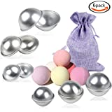 Goodlucky365 DIY Bath Molds Bomb with 3 Sizes 6 Sets 12 Pieces for Crafting Your Own Fizzles