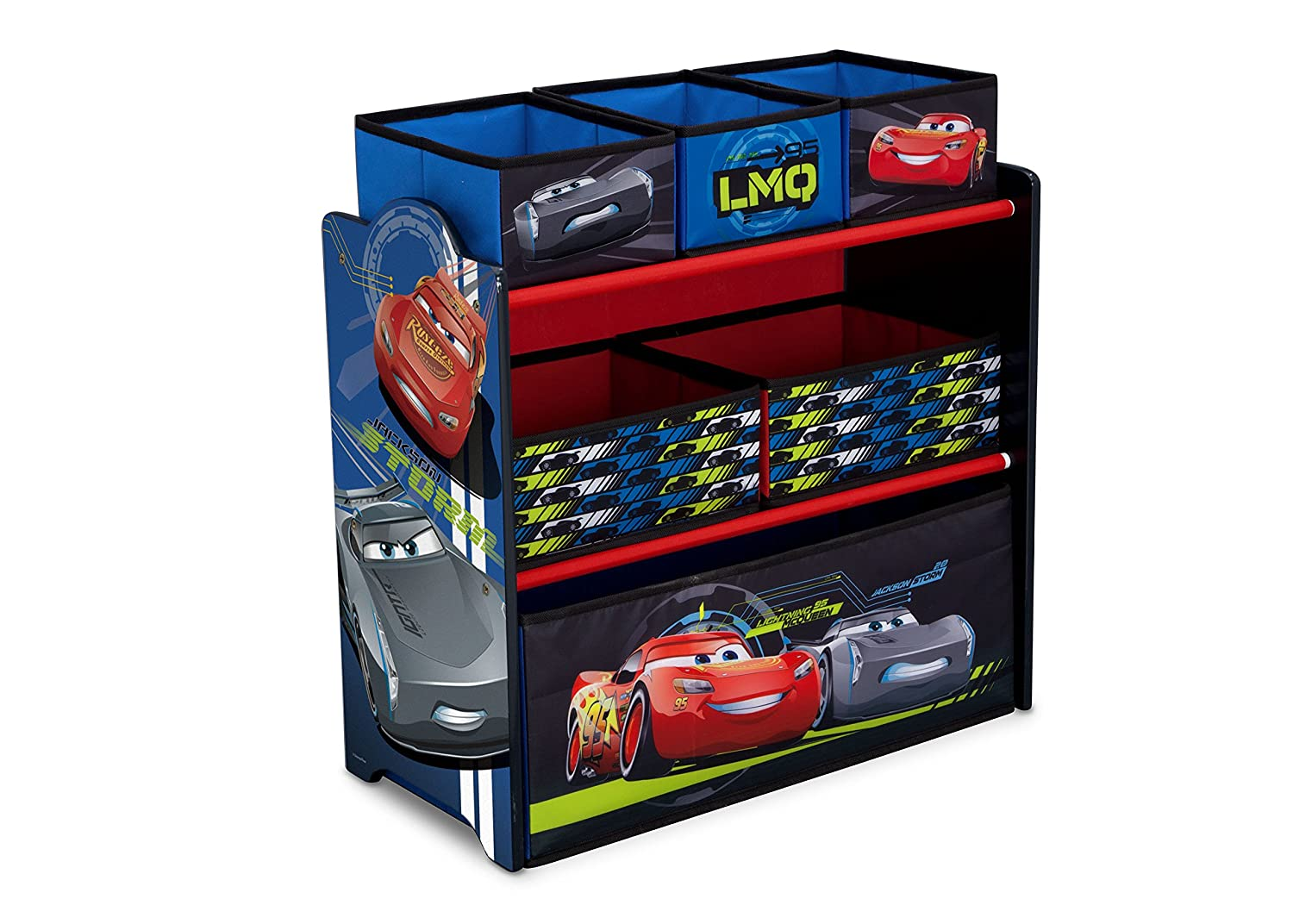 Delta Children Multi-Bin Toy Organizer, Disney/Pixar Cars