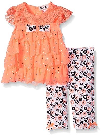6983def9cf80 Amazon.com: Little Lass Baby Girls' 2 Piece Fashion Capri Set: Clothing