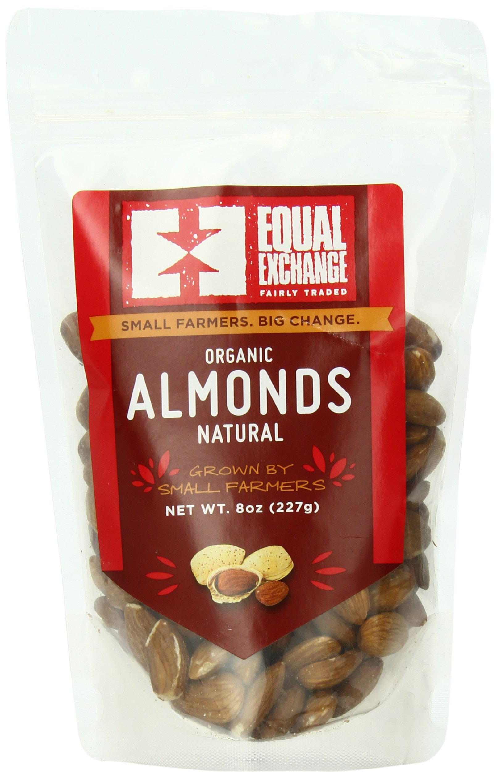 Equal Exchange Organic Natural Almonds, 8 Ounce