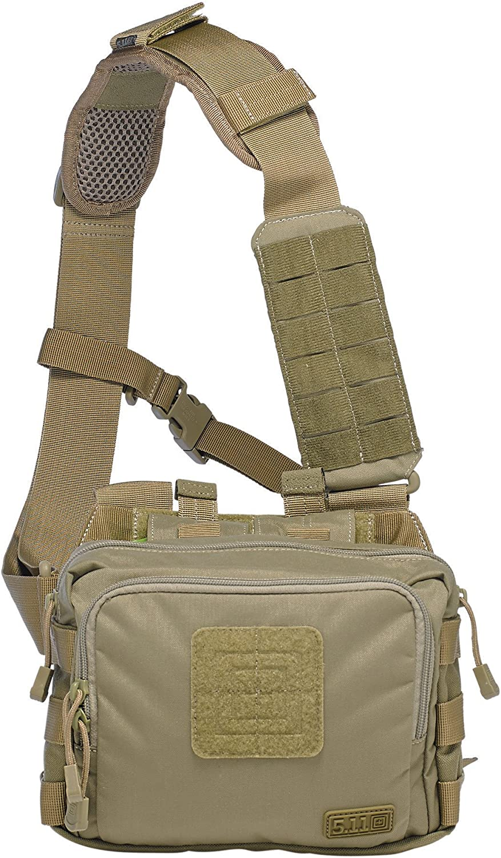 5.11 Tactical 2-Banger Bag, Weatherproof, Gun Concealment, Multiple Magazine Storage, Style 56180 81QYG3UnKLL