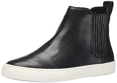LOEFFLER RANDALL Women's Crosby Soft Calf Fashion Sneaker, Black, ...