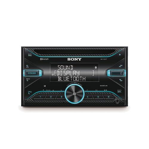 Sony WX920BT Receptor de CD con tecnología Bluetooth Control por voz Android y Siri Eyes Free USB EXTRA BASS 4 x 55 W doble DIN Negro