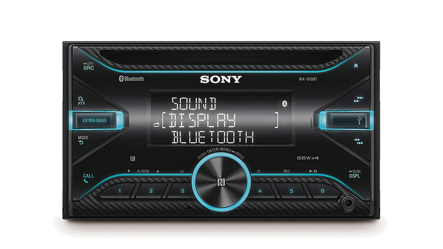 Sony WX-920BT 2 Din CD Autoradio (NFC Bluetooth, USB und Aux ...