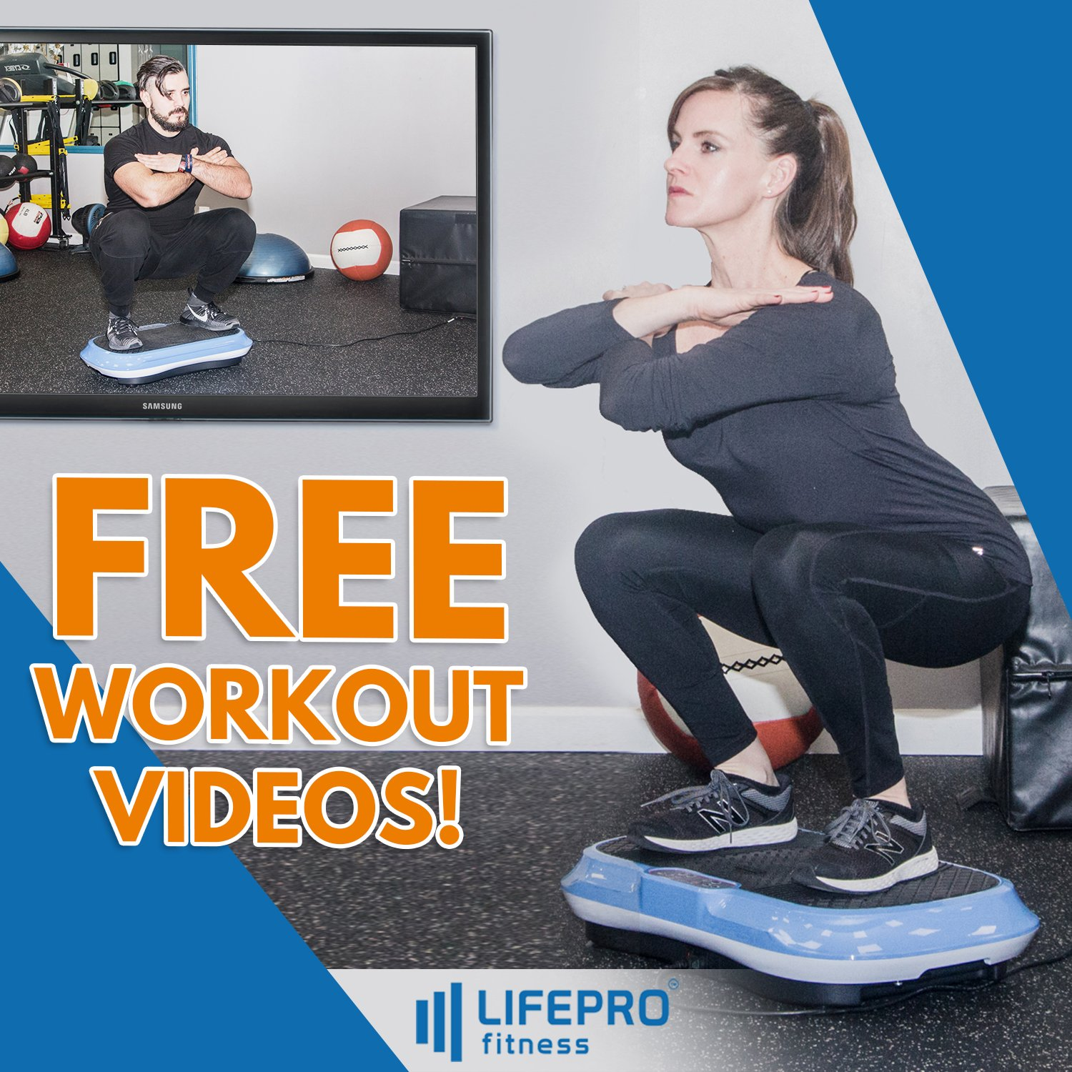 LifePro Vibration Plate Exercise Machine - Whole Body Workout Vibration Fitness Platform w/Loop Bands - Home Training Equipment for Weight Loss & Toning - Remote, Balance Straps, Videos & Manual by LifePro (Image #9)
