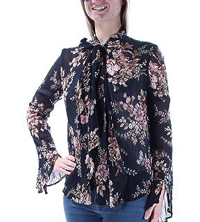 0353ea8c3c719 RALPH LAUREN Denim   Supply Women s Floral Print Tie Neck Blouse ...