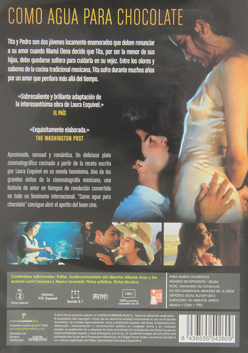 Como Agua Para Chocolate (1992) (Import): Amazon.co.uk: Marco ...