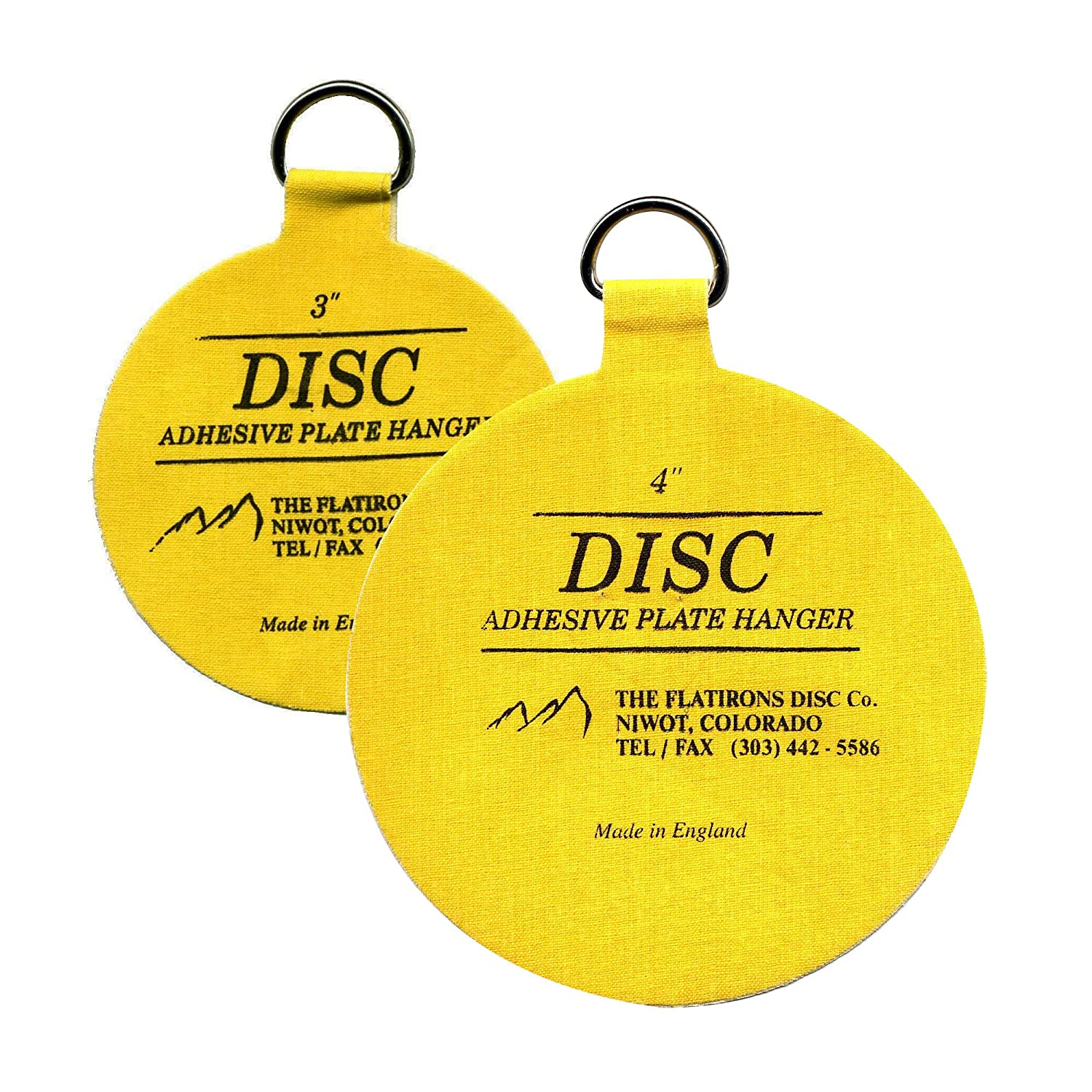 Flatirons Disc Adhesive Plate Hanger Set (2 - 3 Inch and 2 - 4 Inch ...