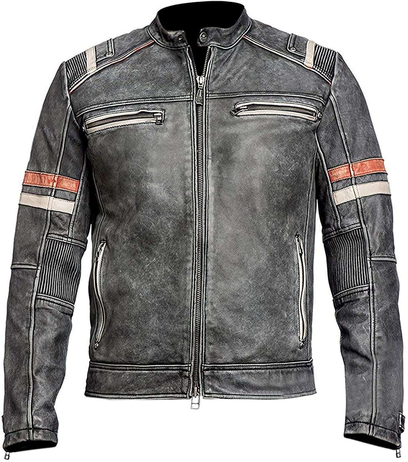 Womens Biker Cafe Racer Modern Motorcycle Real Leather Jacket
