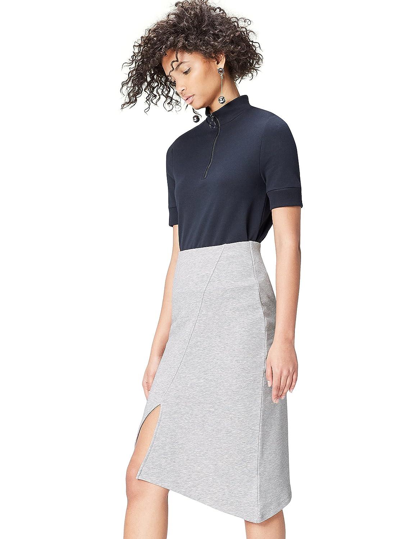 TALLA L. Marca Amazon - find. Falda Asimétrica para Mujer