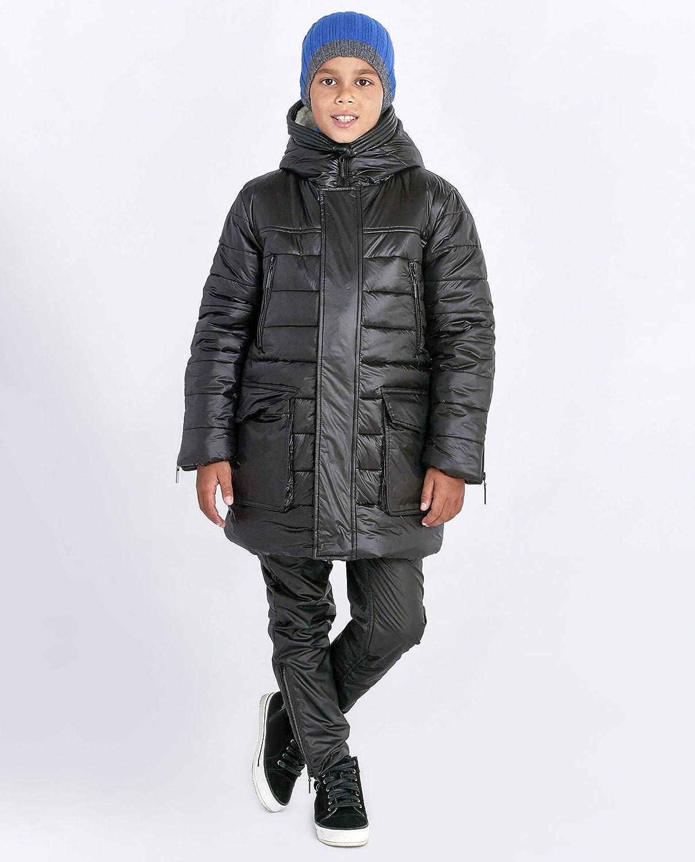 GULLIVER Jungen Mantel f/ür Jungs Wintermantel Herbst Mantel Schwarz Gef/üttert 7-10 Jahre 122-140 cm