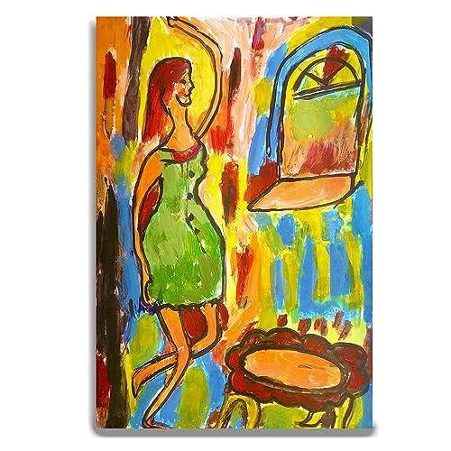 Amazon Com Contemporary Figurative Painting Woman Modern