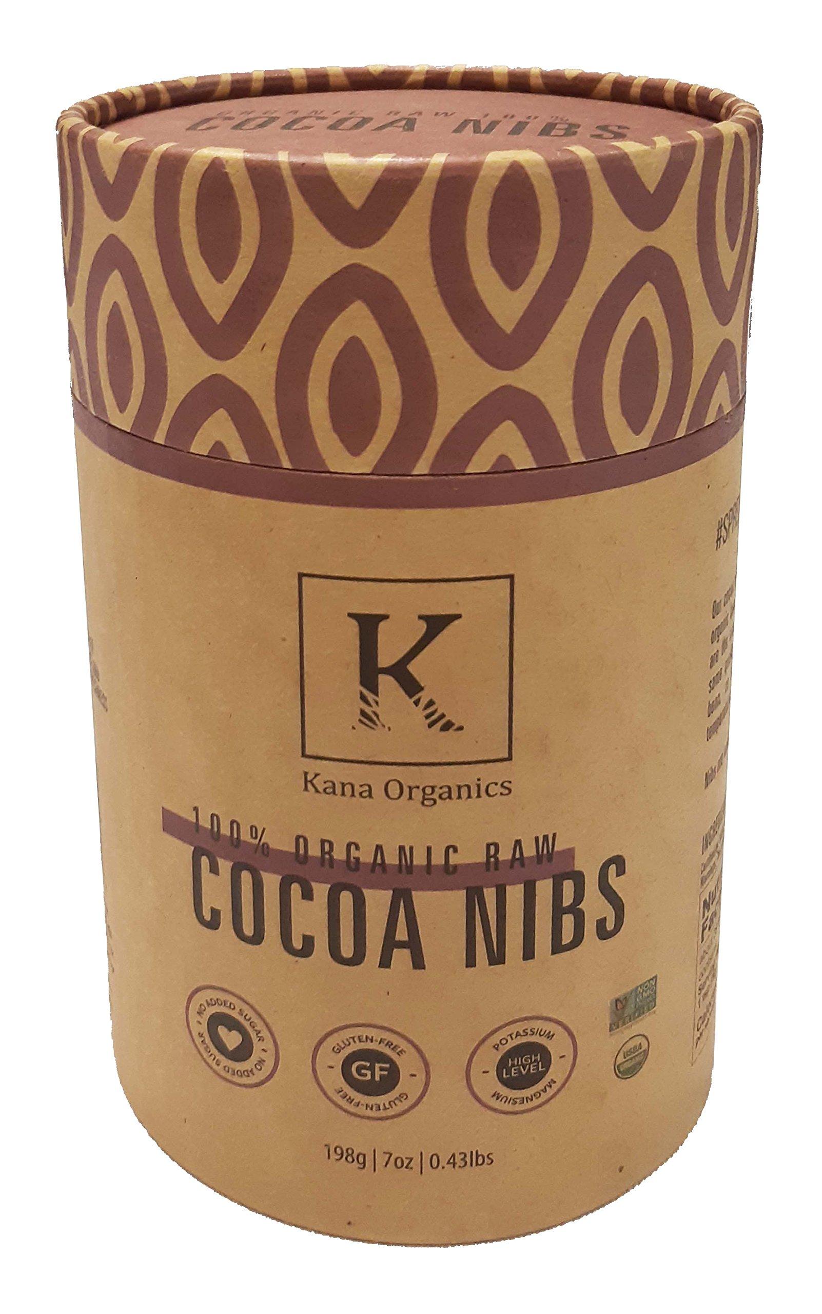 Healthy Organic Cocoa Nibs - Gluten free and Vegan friendly by Kana Organics