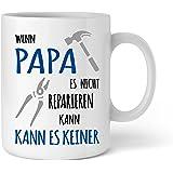 Papa Tasse Geschenk I Wenn Papa es nicht reparieren kann I Geburtstag Vatertag Geschenkidee für Papa Vater I Lustige Kaffee-Tasse von Shirtinator