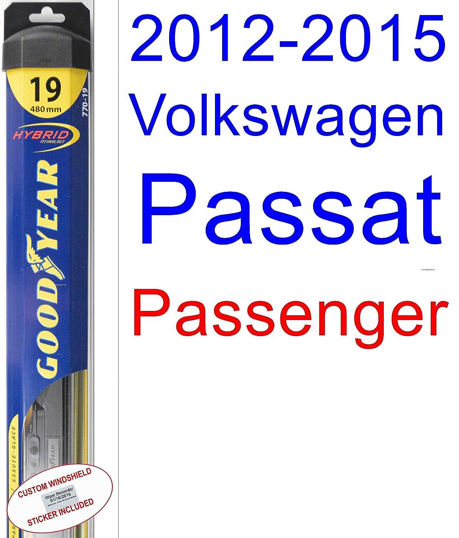 Amazon.com: 2012-2015 Volkswagen Passat Wiper Blade (Passenger) (Goodyear Wiper Blades-Hybrid) (2013,2014): Automotive