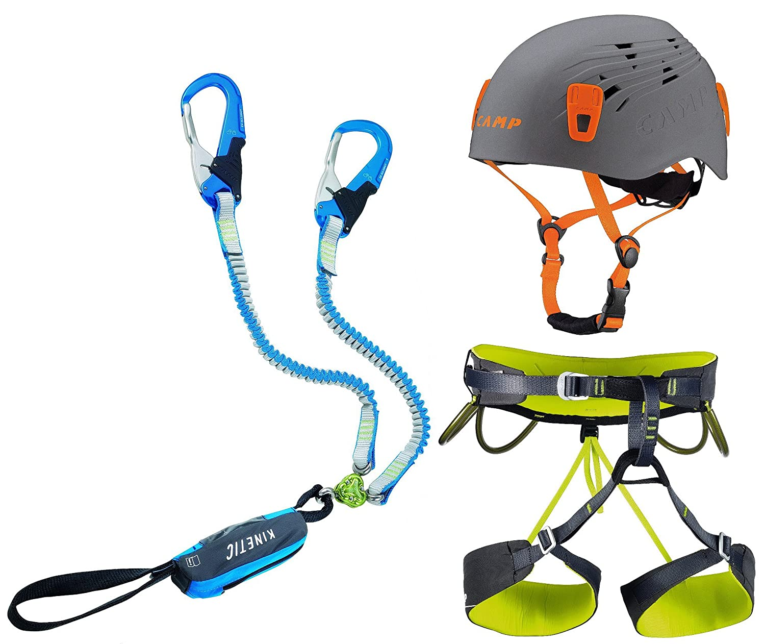 Camp Kinetic Gyro Rewind Pro - Set de vía ferrata y arnés (Talla M ...