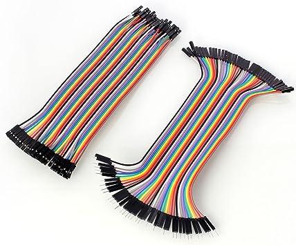 Neuftech 40x 20cm Female Female Male Female Jumper Wire Elektronik