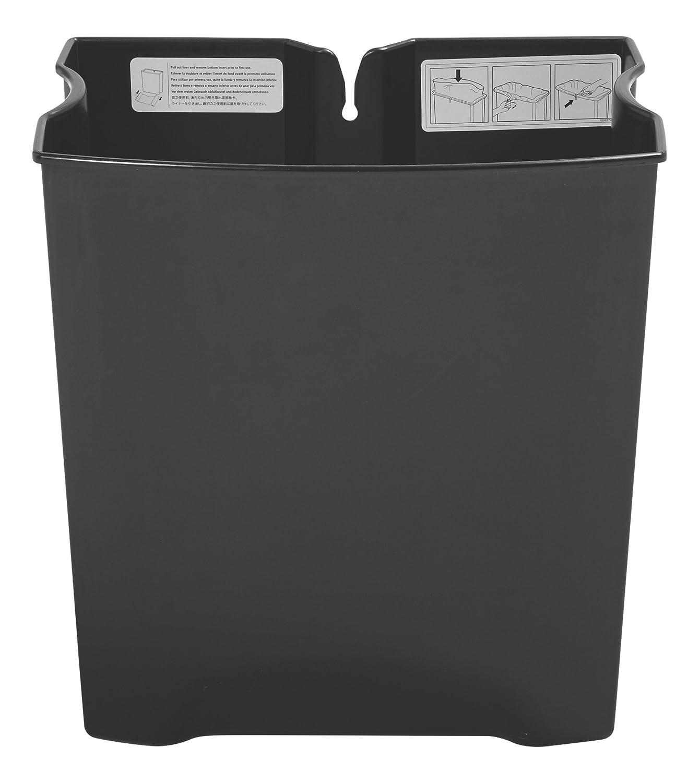 Rubbermaid Slim Jim 1883620 - pedal Contenedor con pedal - frontal, capacidad de 68 l, negro 37dcb2