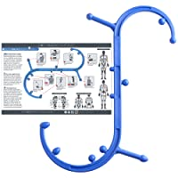 Body Back Company's Body Back Buddy Triggerpunkt Massagegerät mit Nutzungsplakat