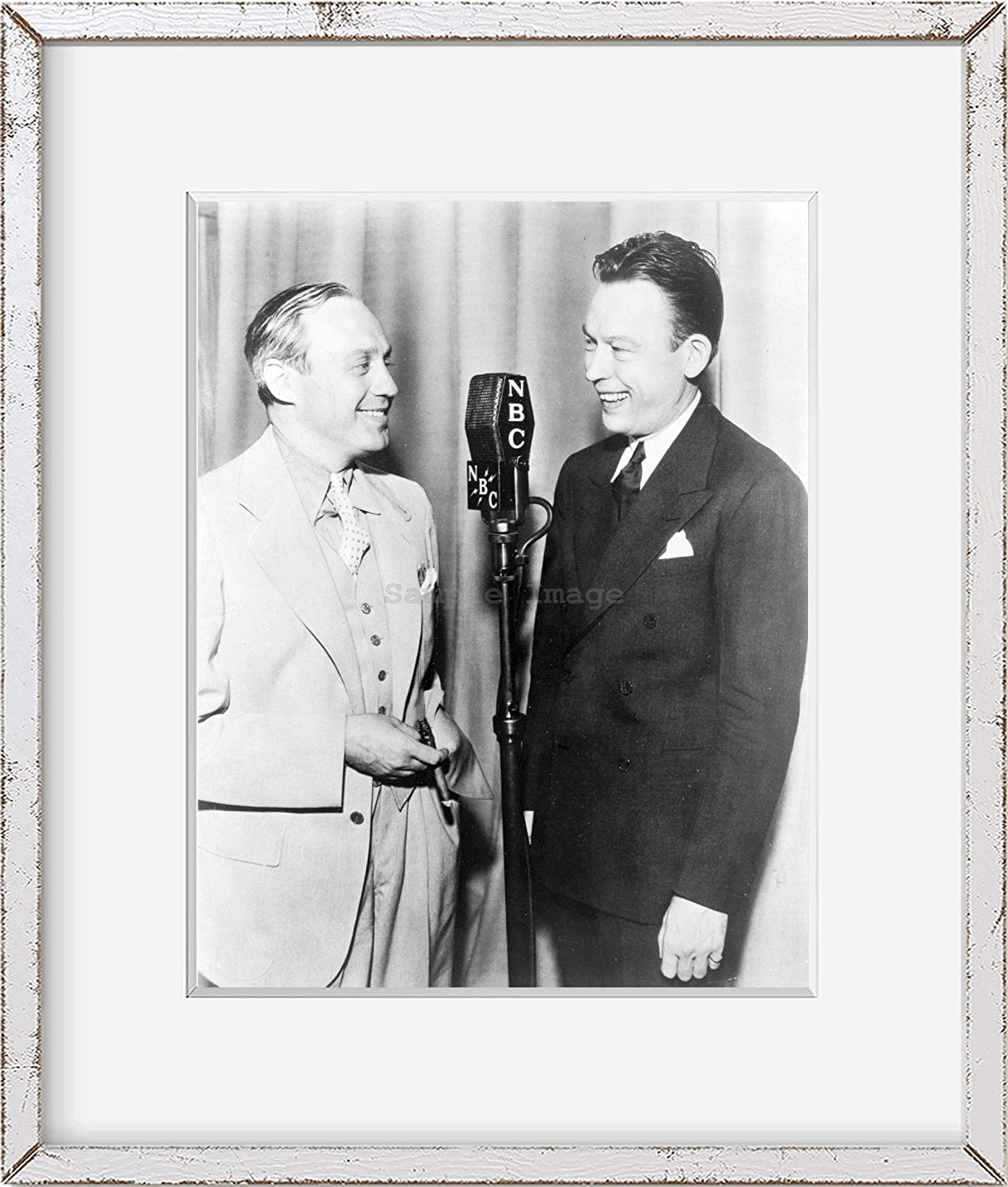 and Jack Benny g8 1936 photo Fred Allen three-quarter length portrait right