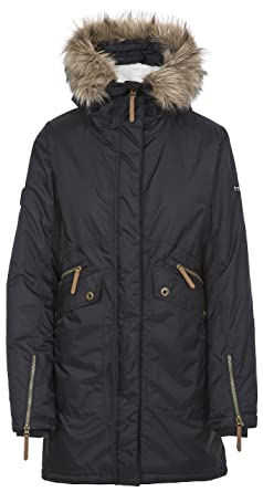 29adfba1d640 Trespass Eternally, Black, XXS, Waterproof Jacket with Concealable Hood for  Women, XX