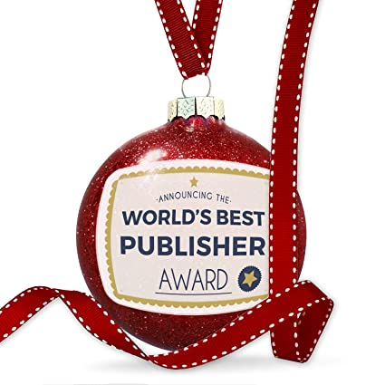 amazon com christmas decoration worlds best publisher certificate