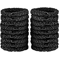 18 PCS Large Hair Ties Ponytail Holders for Thick Hair - Stretchy Elastic Hair Bands for Women and Girls - Black