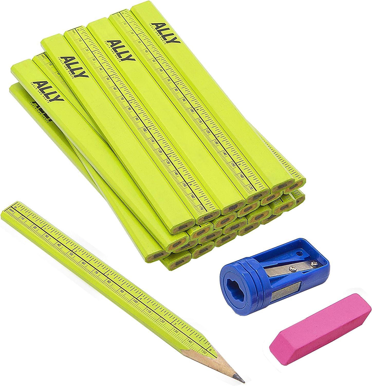 ALLY Tools 24 PC Neon Green Carpenter Pencil