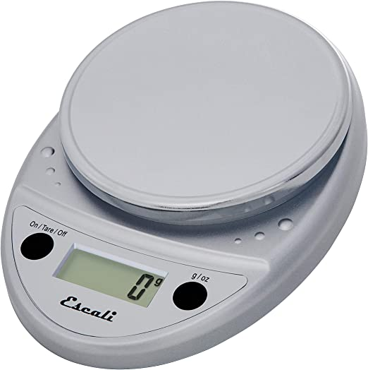 Escali Primo P115C Premium Kitchen Food Scale for Baking and Cooking,  Lightweight and Durable Design, LCD Digital Display, Chrome: Amazon.ca:  Home & Kitchen