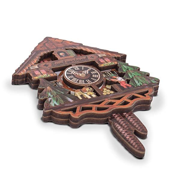 JUMI - Reloj de Cuco magnético para Nevera, Suizo, 11 cm x 7 cm, con Bonito diseño 3D: Amazon.es: Hogar
