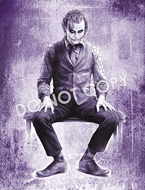 Batman Joker Heath Ledger Canvas In Assorted Sizes And