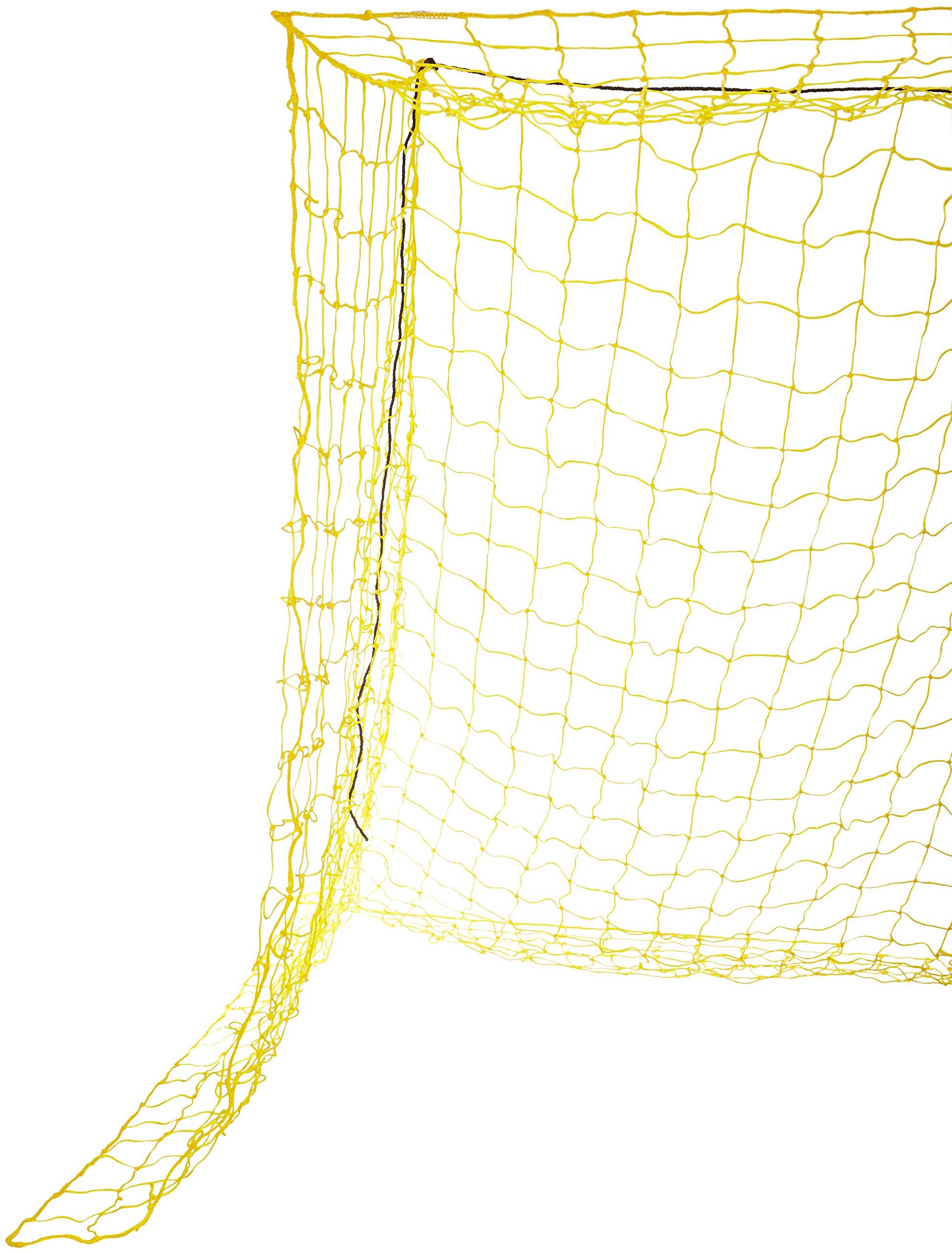 Goal Sporting Goods Soccer Net, 8x24x4x10-Feet/4mm, Yellow/Yellow