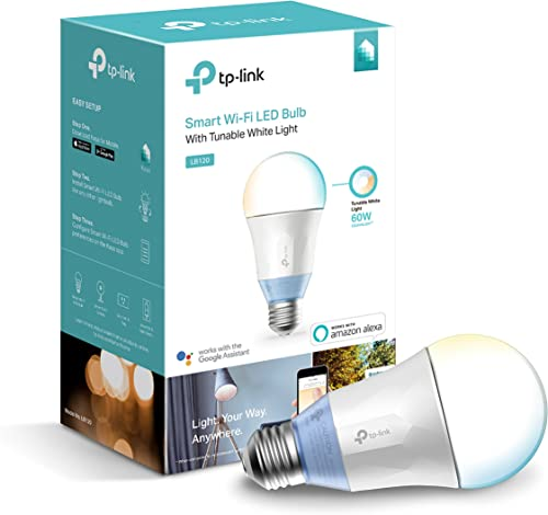 Kasa Smart LB120 Dimmable LED WiFi Smart Light Bulb, 60W Equivalent, Tunable White