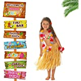 Huray Rayho Luau Aloha Party Sign, Tropical Hawaiian Summer Themed Party Decorations
