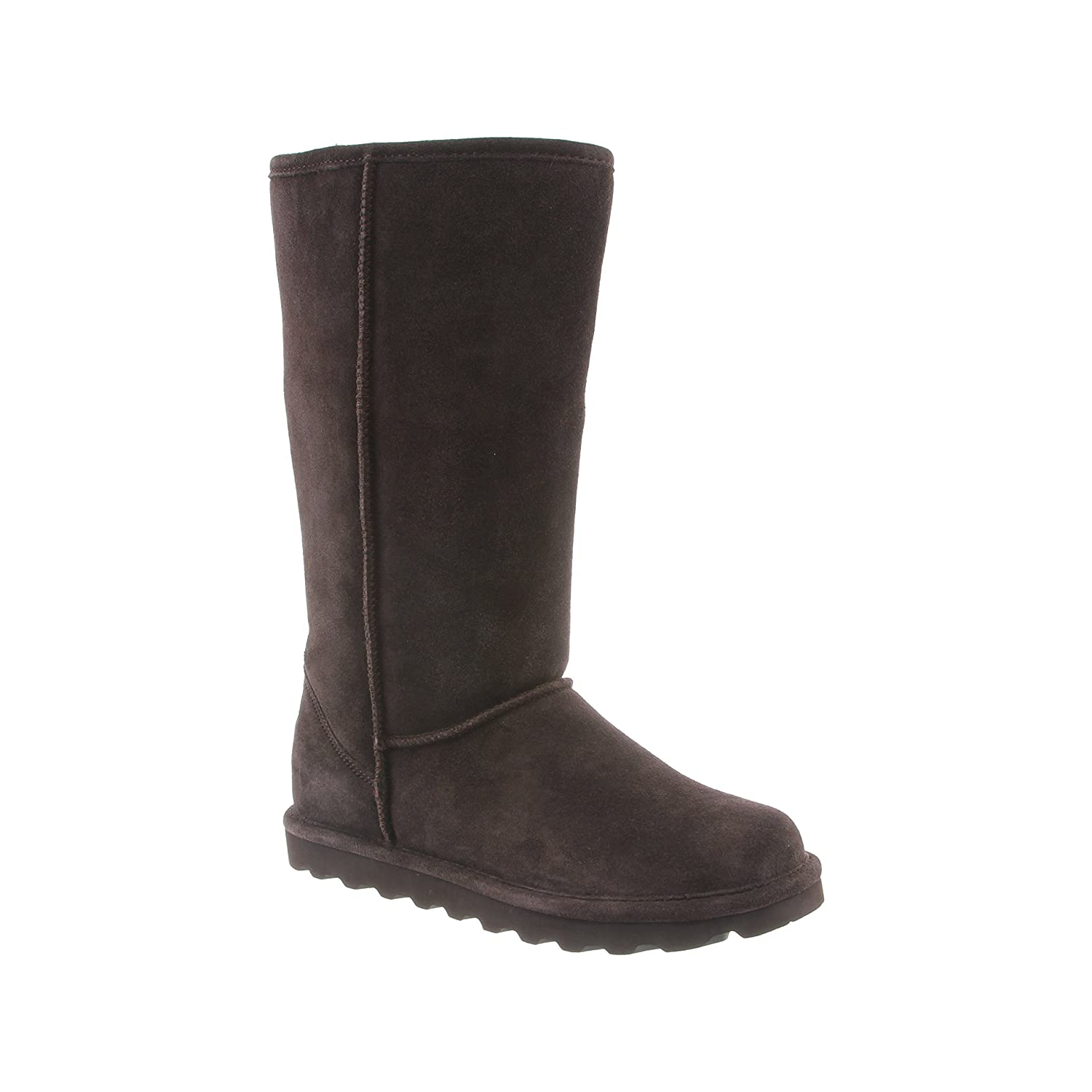BEARPAW Tall Mid-Calf Suede Boots - NeverWet Stain and Liquid Repellent -Elle by B0752ZH6M3 11 B(M) US / 42 M EU|Chocolate