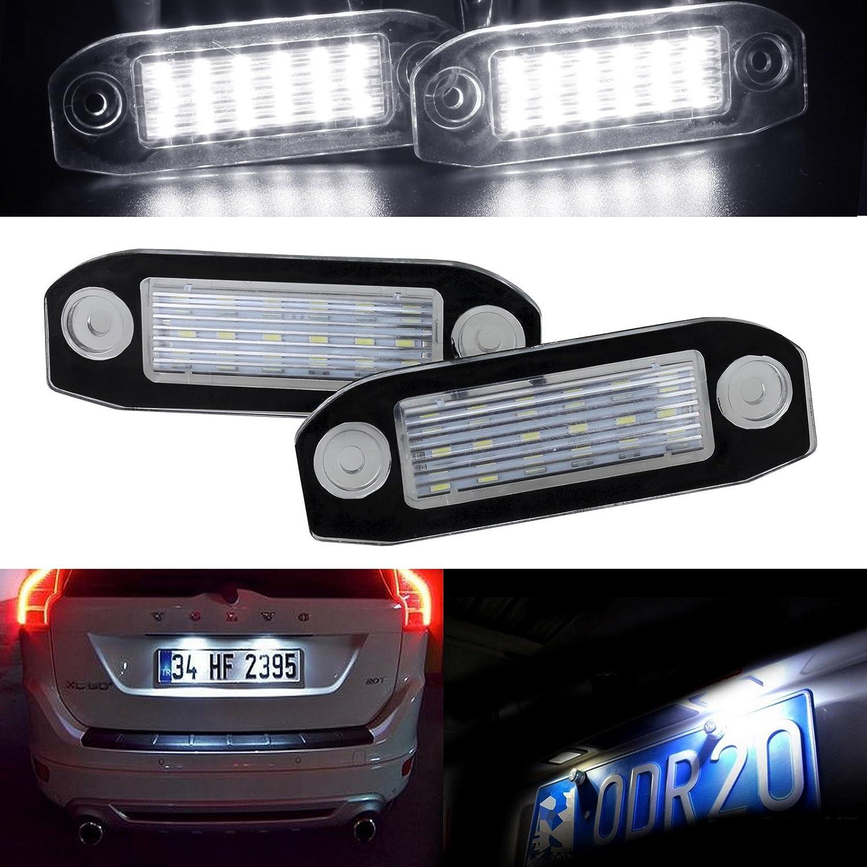 2pcs Number Plate LED Light Super Bright White for Volvo XC90 V60 S60 XC60